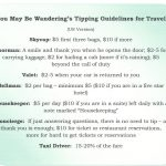 Today's Travel Tip ~ Guidelines for Tipping