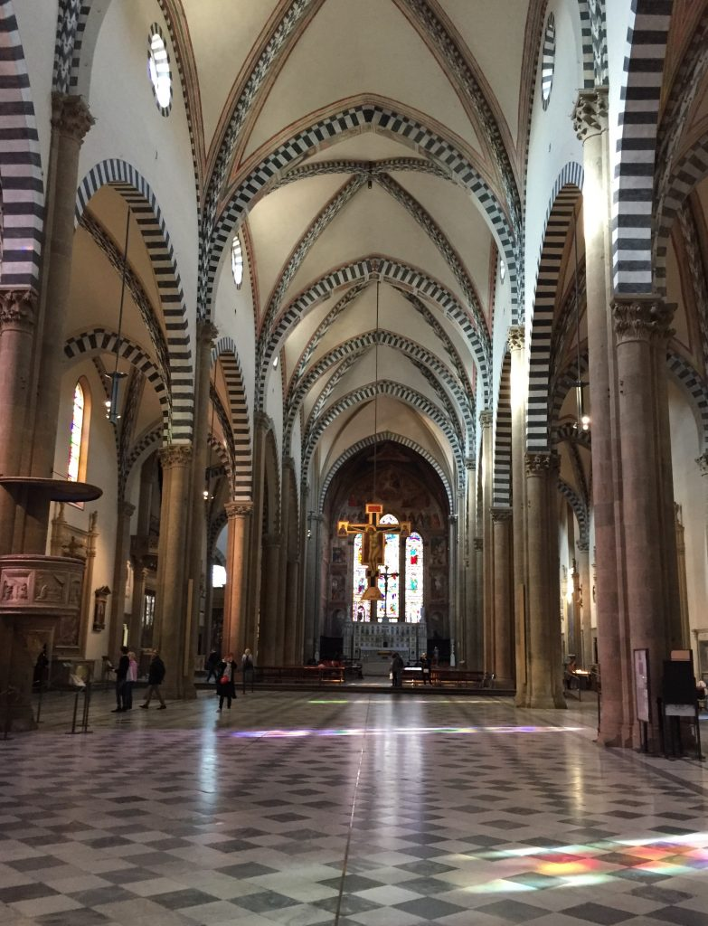 Inside the stunning Santa Maria Novella Church